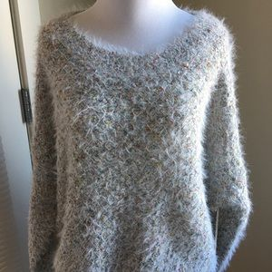 Forever 21 Sweaters - NWT Forever 21 Grey multi color sweater Size M
